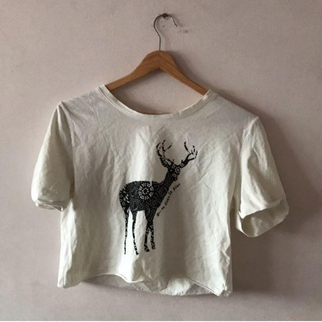 小鹿短版上衣t恤