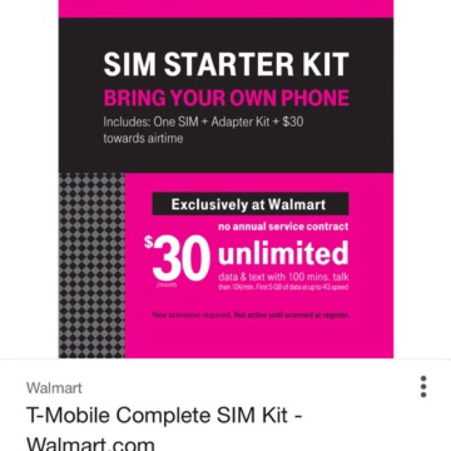 T-Mobile prepaid sim, Mobile Phones & Tablets, Others on