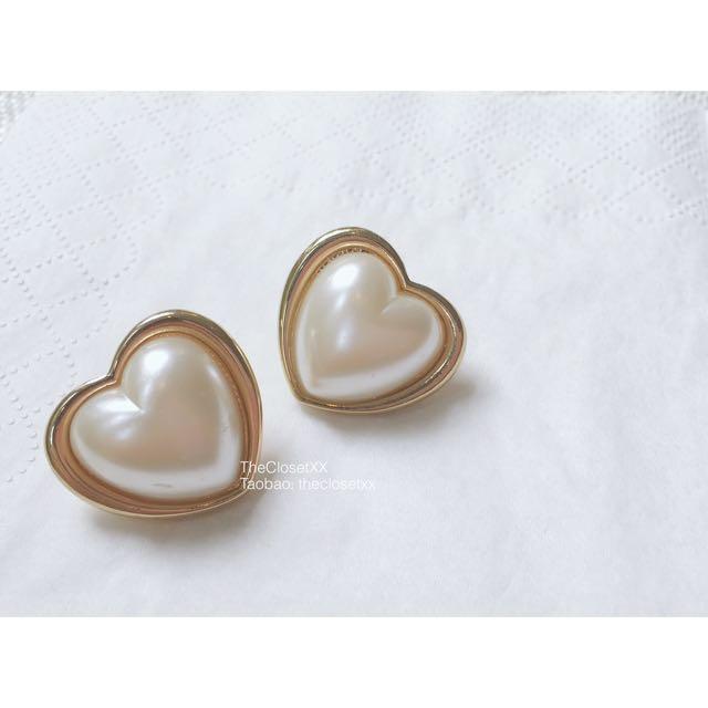 Vintage Heart Peals Earrings