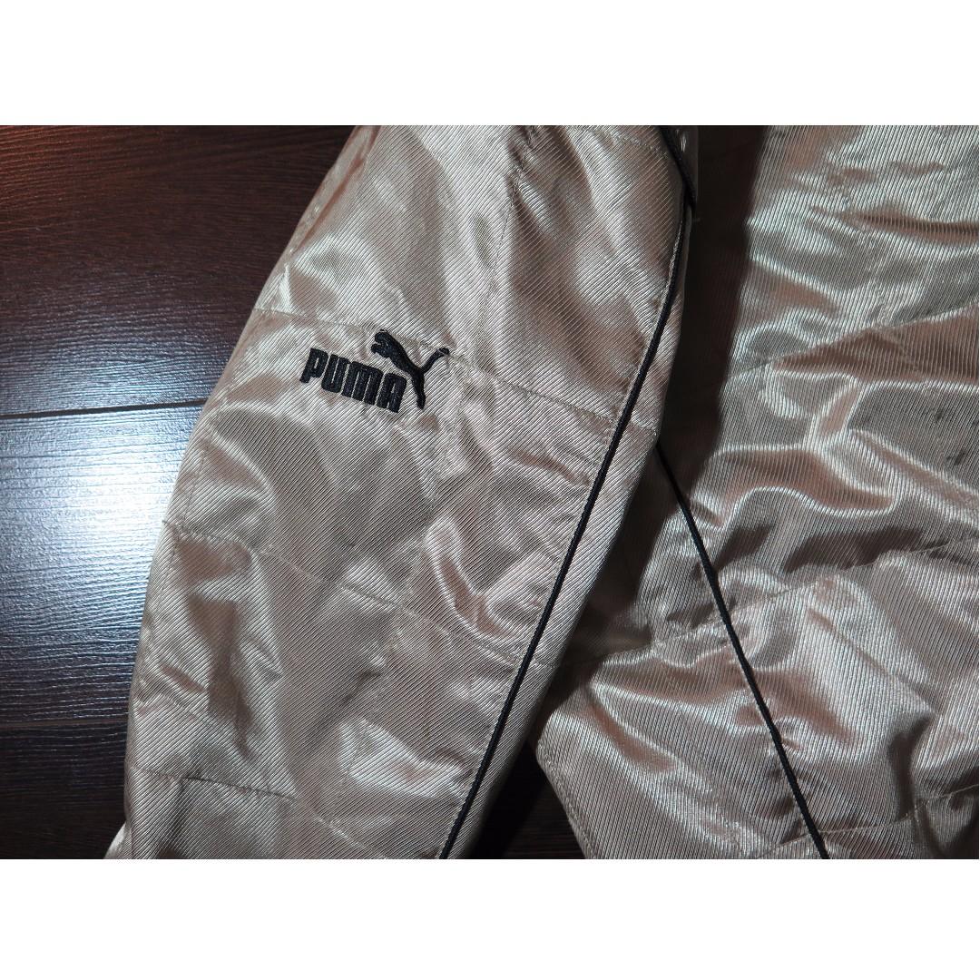 Vintage Puma MotorSport Quilted Gold Bomber Jacket Sz XS