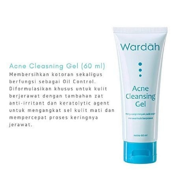 Wardah Acne Cleansing Gel Health Beauty Bath Body On Carousell