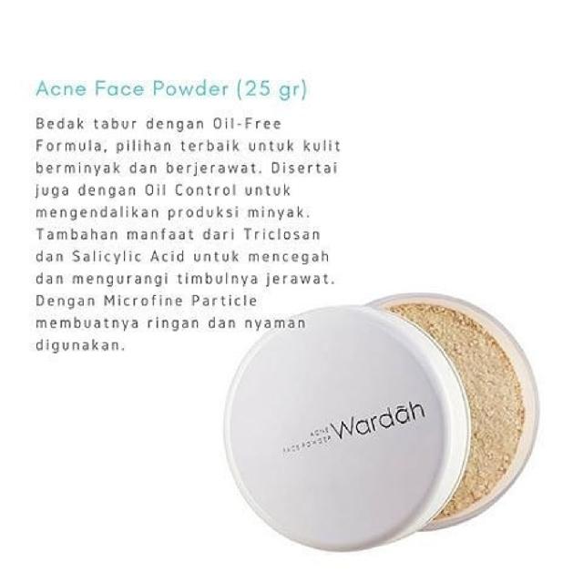 Wardah acne face powder ready stock, Health & Beauty, Makeup on Carousell