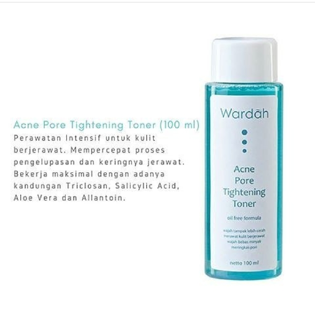 Wardah Acne Pore Tightening Toner Health Beauty Bath Body On Carousell