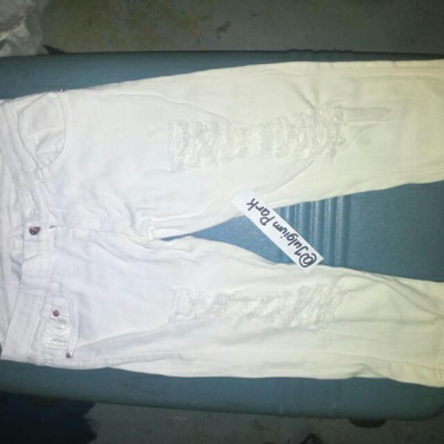 reprice White rip jeans tokong(s)