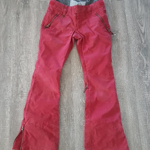 Women's Red Roxy snowboard pants
