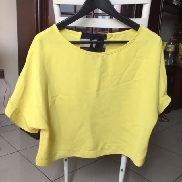 Yellow blouse top