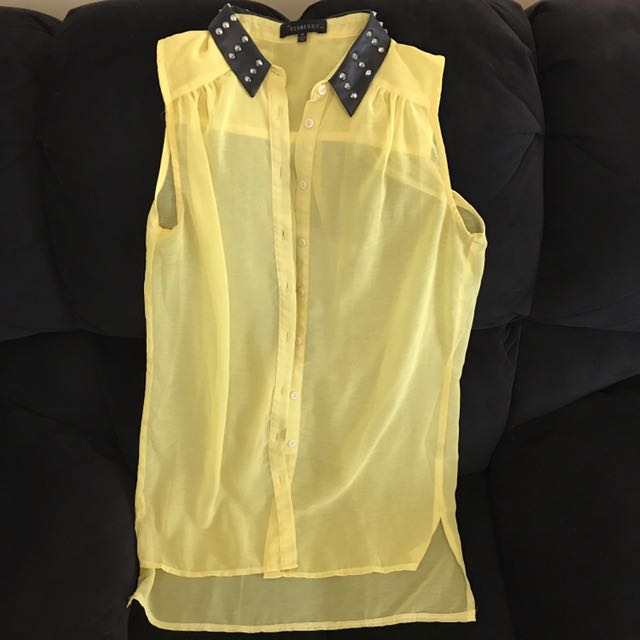 Yellow sleeveless shirt - ANY 5 ITEMS FOR $10