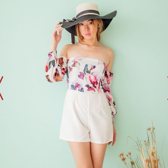 Yuanclothing.com Bardot Playsuit