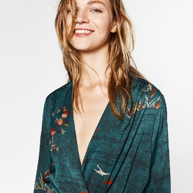 Zara oriental wrap bodysuit