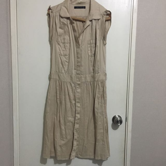 Zara original Women dress beige