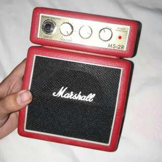 Marshall Tiny Red Amp MS-2R