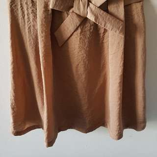 Chloé skirt dusty pink with bow