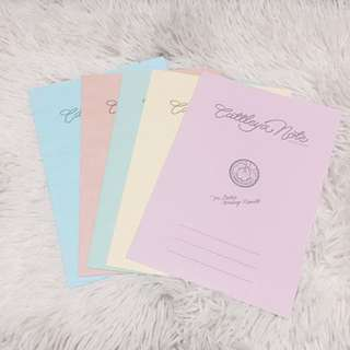 CATTLEYA NOTE Pastel Colored Fillers for Binders
