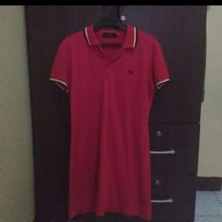 RED FRED PERRY DRESS