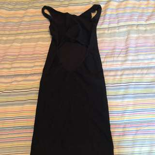 BEBE black fitted dress xs