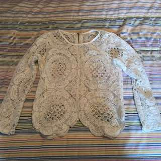 Lace balmain inspired top SMALL