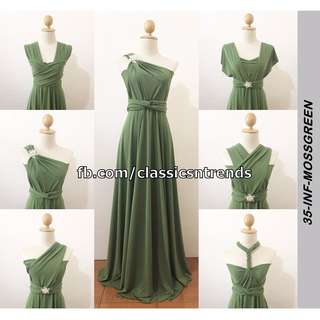 FREE SHIPPING! Bridesmaid Infinity Dress in Moss Green