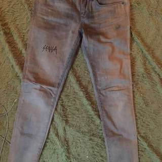 agnes b jeans 復古 刷舊 牛仔褲