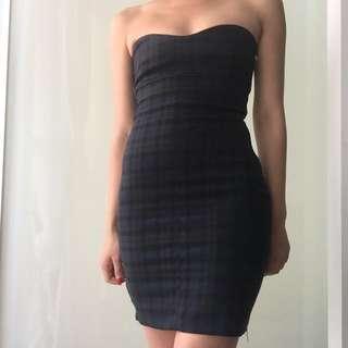 Zara Plaid Side Zip Dress