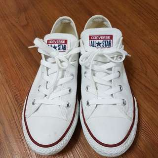 Allstar 正版基本款白色(項目中所有的女孩鞋買兩雙送一雙.取低價位的那雙送)