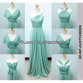 Infinity Dress in Dusty Green