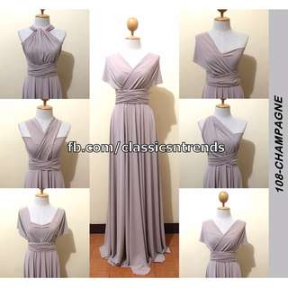 FREE SHIPPING! Bridesmaid Infinity Dress in Champagne