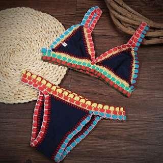 black Brazilian crochet bikini set