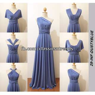 FREE SHIPPING! Bridesmaid Infinity Dress in Dusty Blue