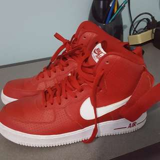 Red Air Force 1s Hightop