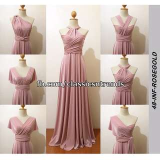 FREE SHIPPING! Bridesmaid Infinity Dress in Rosegold