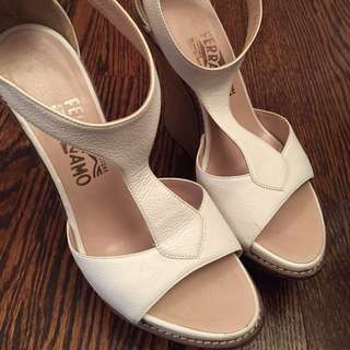 Authentic ferraegamo 15 runway wedges