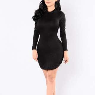 Fashion Nova Black Bodycon Dress (Beverly Hills Tunic)