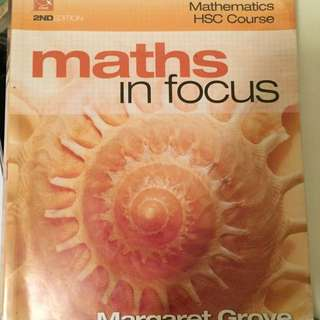 Year 12 HSC Maths In Focus with CD-ROM