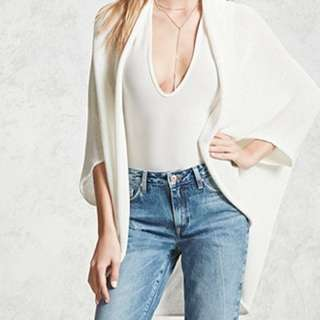 Forever 21 cream knit cardigan