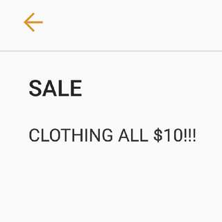 CLOTHING ALL $10