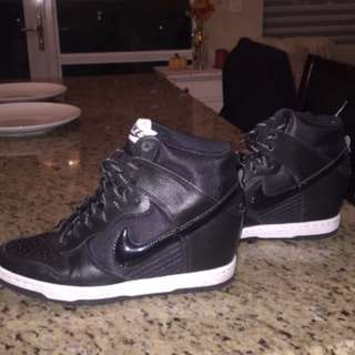 7.5 Nike high top wedges