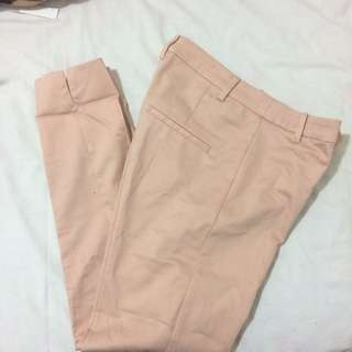 Peach tailored trousers
