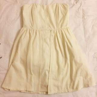 Strapless Off-White Dress