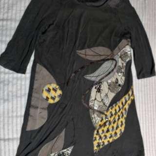 Gray longsleeve dress