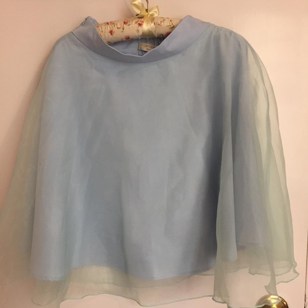 100% New 淺藍色 網紗裙 仙氣 半截裙 中長裙 包郵