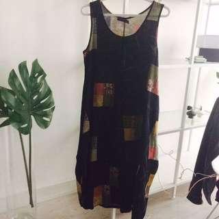 Long Patchwork Pattern Dress