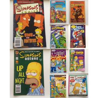 10x SIMPSONS COMICS Bulk Bundle | Futurama | Rare #1-#115 Collection