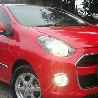 Rental Mobil Ayla Plus Supir Bandung (Merah)