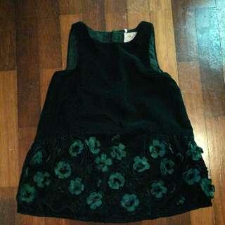 NEXT Baby Girl in Green Dress 9-12months