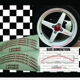 sticker rim lenso(replacement)