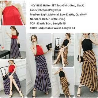 Halter SET Top+Skirt