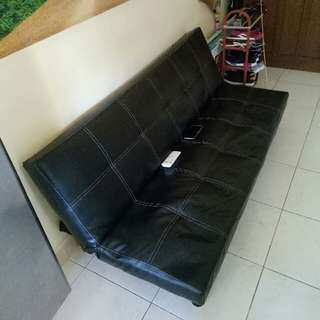 sofa bed Leather (repriced)
