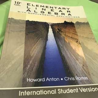 線性代數 elementary linear algebra (保留中)