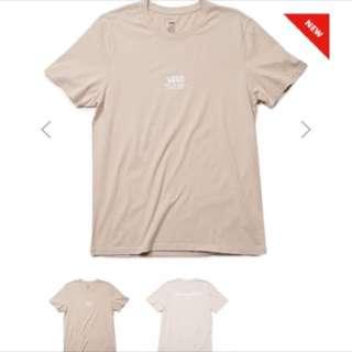 Vans 駝色短袖t shirt