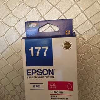 (粉紅色)全新EPSON 原廠墨水 T177 墨水適用XP-102/XP-202等